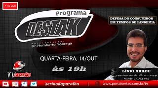 Programa Destak, com participação do coordenador do PROCON-PB Núcleo Cajazeiras