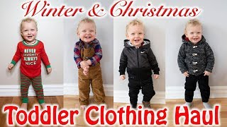 WINTER TODDLER BOY CLOTHING HAUL| Christmas Baby And Toddler Boy Clothes 2018