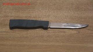 Реставрация и заточка кухонного ножа, сделанного в СССР.