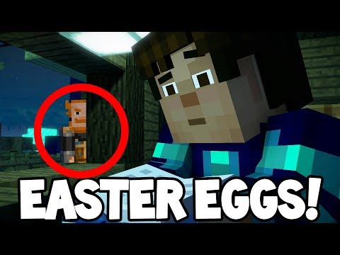 Minecraft Story Mode: Season 2 - HIDDEN EASTER EGGS!