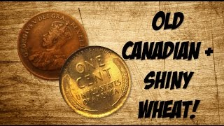 OLD CANADIAN + SHINY WHEAT! -Coin Roll Hunting-