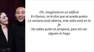 Sara Bareilles, John Legend   A Safe Place To Land (Letra En Español)