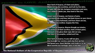 "Guyana National Anthem ""Dear Land of Guyana, of Rivers and Plains"" INSTRUMENTAL with lyrics"