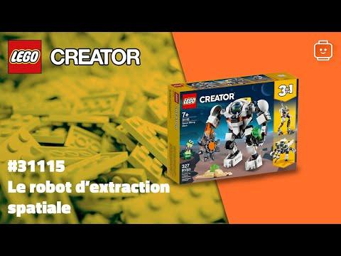 Vidéo LEGO Creator 31115 : Le robot d'extraction spatiale