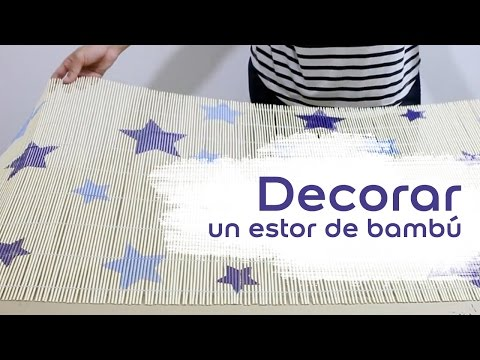 Vídeo Tutorial: Cómo decorar un estor de bambú - Bruguer