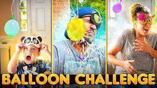 DON'T BREAK the WATER BALLOON!  Blind Fold Challenge (FV Family)