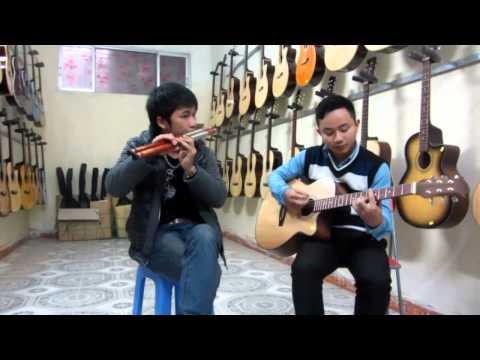 Nghe và cảm nhân sự tuyệt vời. Con bướm xinh Sáo+ Guitar
