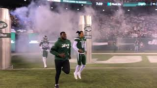 New York Jets player introductions FROM THE FIELD