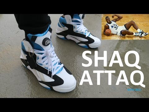 REEBOK SHAQ ATTAQ SNEAKER ON FOOT REVIEW