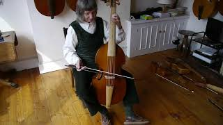 Holding the bass viol, part 1 with Alison Crum