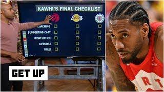 Kawhi's best-case scenario: Lakers, Raptors or Clippers?   Get Up