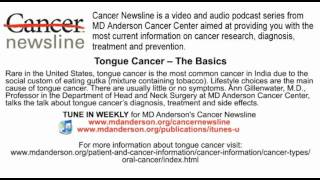 Tongue cancer diagnosis, treatment and side effects