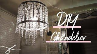 DIY Crystal Chandelier| Designer Chandelier | DIY Light Decor DIY
