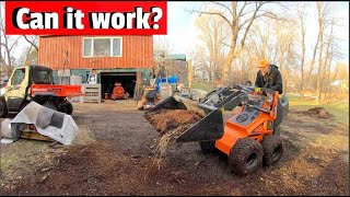 What can it do? Testing a new mini skid steer