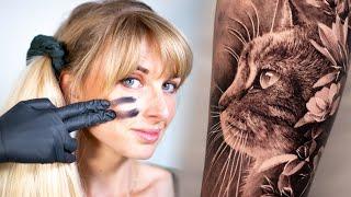 TATTOO TIMELAPSE #1 Tatouage Chat Sur Valérie
