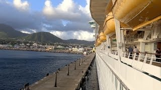 preview picture of video 'Basseterre, St. Kitts - Independence of the Seas Departure HD (2013)'