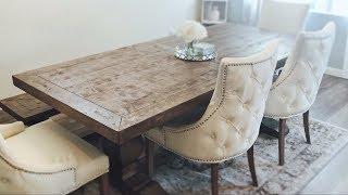 NEW DINING ROOM!!|RUSTIC GLAM-FURNITURE HAUL