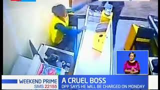 A Cruel Boss: Supermarket supervisor caught on clip assaulting a cashier