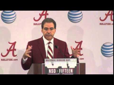 Nick Saban Press Conference, Feb. 4, 2015