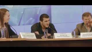 Рамазан Эмеев и Вячеслав Василевский на пресс-конференции перед боем на M-1 Challenge 56