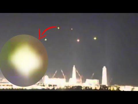 Zwerm UFO's boven kerncentrale Fukushima Japan 2021