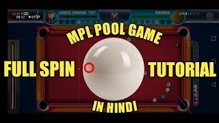 MPL POOL GAME - Full Spin Tutorial    Learn how to use spin    Hindi   