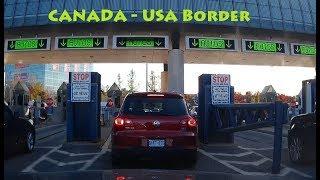 Crossing Canada US Border through Rainbow Bridge in Niagara Falls by Car