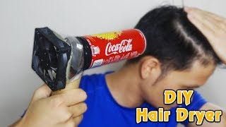 how-to-make-a-hair-dryer-from-coca-cola-can-homemade