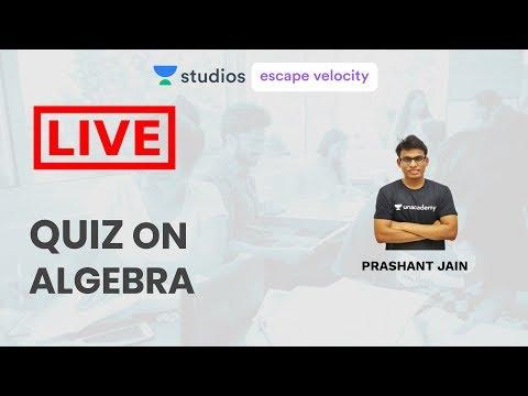Live Quiz on Algebra | KVPY NSEJS Crash Course 2019 | Prashant Jain