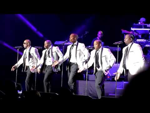 New Edition performing