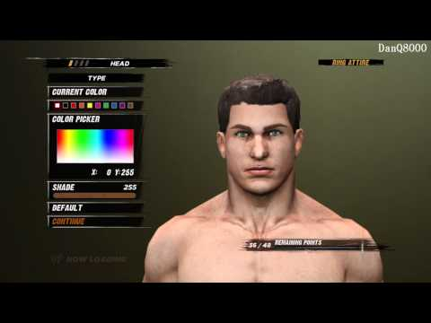 WWE '12: Create-A-Mode HD Gameplay Part 1   DanQ8000