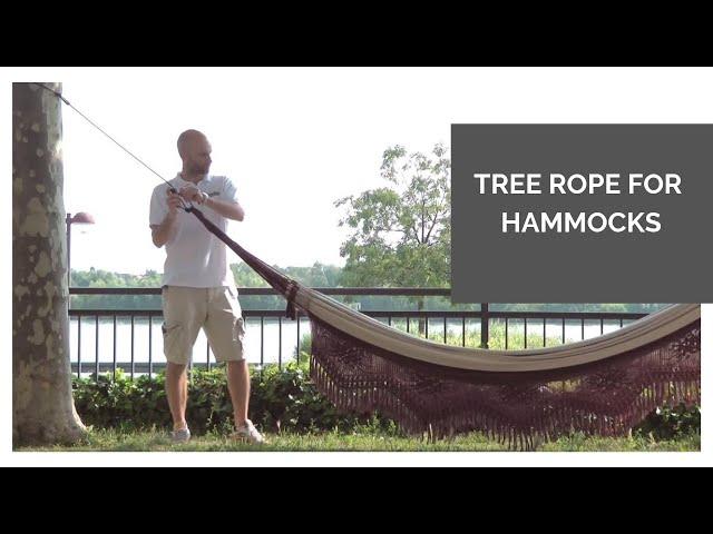 Видео Крепления La Siesta Tree Rope для подвесных гамаков black