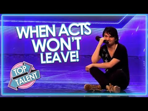 When Acts WON'T LEAVE! Got Talent, X Factor and Idols | Top Talent (видео)