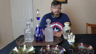 Car Boot Sale Buying For Ebay Re Selling Carnival Glass Decanters ETC