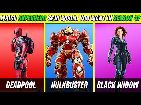 10 FORTNITE Season 4 *SUPER HERO* Skins We All Want