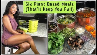 VEGAN MEAL PREP: SIX PLANT BASED MEALS | RECIPES AND TUTORIAL BY @YANAGLO