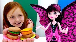 Видео для девочек - Волшебная коробка - Кафе с Монстер Хай