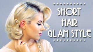 Short Hair Glam Style Tutorial | Milabu