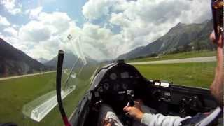 preview picture of video 'Gliding Samedan Swiss Alps'