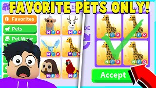 The *FAVORITE PETS* Trading Challenge in Adopt Me!
