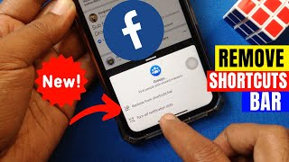 How to Remove Icons from Facebook App's Shortcut Bar