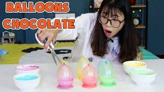 Download Video LÀM CHÉN CHOCOLATE BONG BÓNG BALLOONS CHOCOLATE CUP MP3 3GP MP4