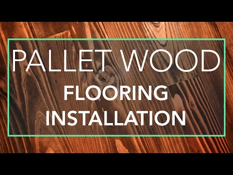 Installing Recycled Pallet Wood Flooring in Our RV