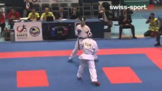 Hamza Čajić vs Ozan Gökçen _  Karate European Championship 2015