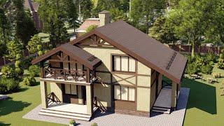 Проект дома 106-А, Площадь дома: 106 м2, Размер дома:  9,8х6,8 м