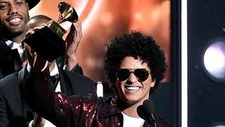 Bruno Mars SWEEPS Huge Categories At 2018 Grammys