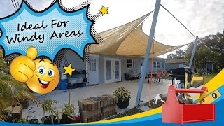 How to Install a Shade Sail | DIY Tutorial Installation Considerations & Rigging for Windy Areas