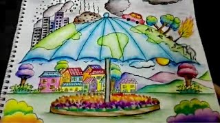 Beautiful Earth Day Drawing, Save Earth , Save Environment Drawing For Kids