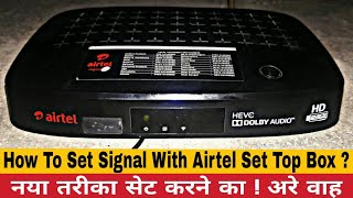 Airtel Digital TV signal setting || how to set Airtel DTH free
