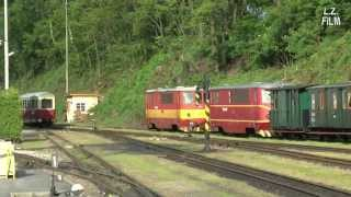preview picture of video 'Narrow Gauge Railway at Jindřichův Hradec: T47.005'